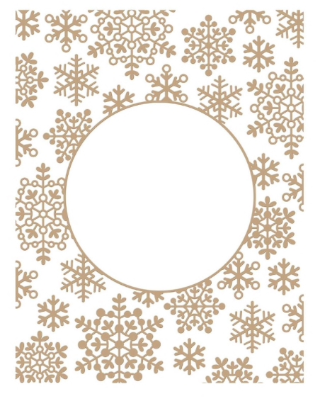 GLP-201 Spellbinders SNOWFLAKE SPARKLE BACKGROUND Glimmer Hot Foil Plate zoom image