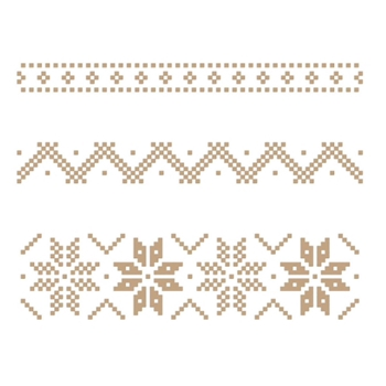 GLP-192 Spellbinders CHRISTMAS SWEATER BORDERS Glimmer Hot Foil Plate