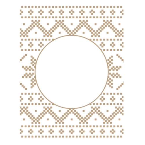 GLP-198 Spellbinders CHRISTMAS SWEATER BACKGROUND Glimmer Hot Foil Plate Preview Image