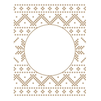 GLP-198 Spellbinders CHRISTMAS SWEATER BACKGROUND Glimmer Hot Foil Plate