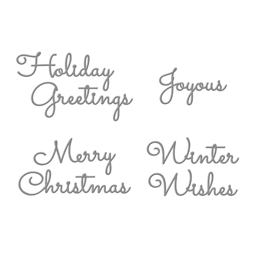 S4-1065 Spellbinders CHRISTMAS MIX AND MATCH SENTIMENTS Etched Dies Preview Image