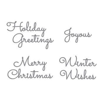 S4-1065 Spellbinders CHRISTMAS MIX AND MATCH SENTIMENTS Etched Dies