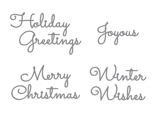 S4-1065 Spellbinders CHRISTMAS MIX AND MATCH SENTIMENTS Etched Dies zoom image