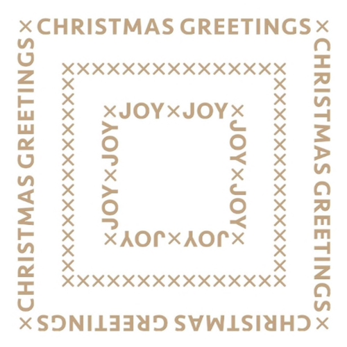 GLP-181 Spellbinders CHRISTMAS ESSENTIAL GLIMMER SQUARES Glimmer Hot Foil Plate Preview Image