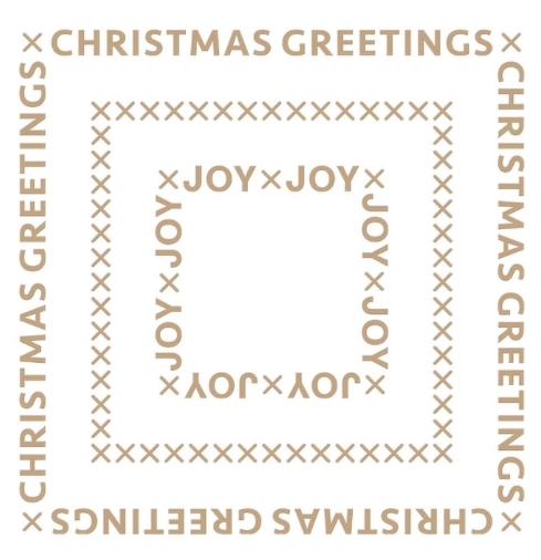 GLP-181 Spellbinders CHRISTMAS ESSENTIAL GLIMMER SQUARES Glimmer Hot Foil Plate zoom image