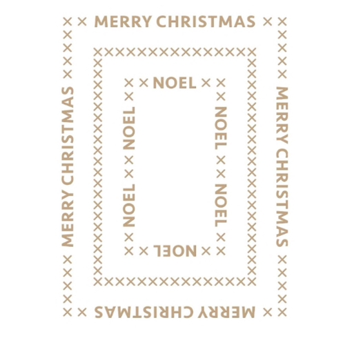 GLP-183 Spellbinders CHRISTMAS ESSENTIALS GLIMMER RECTANGLES Glimmer Hot Foil Plate Preview Image