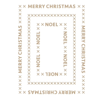 GLP-183 Spellbinders CHRISTMAS ESSENTIALS GLIMMER RECTANGLES Glimmer Hot Foil Plate