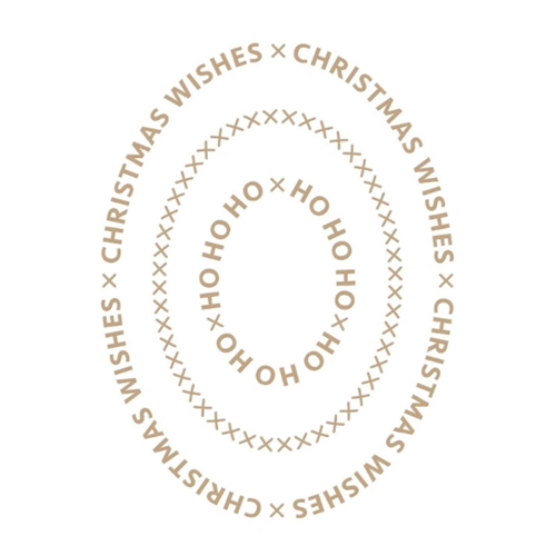 GLP-182 Spellbinders CHRISTMAS ESSENTIALS GLIMMER OVALS Glimmer Hot Foil Plate Preview Image