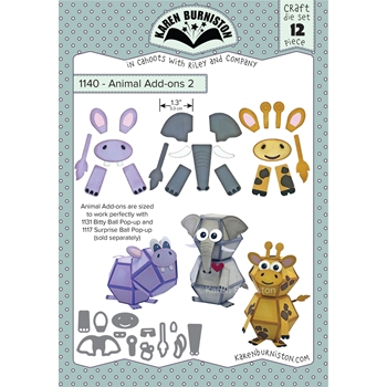 Karen Burniston ANIMAL ADD ONS 2 Die Set 1140
