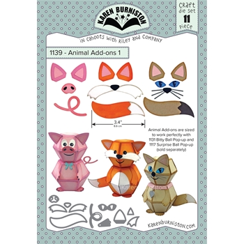 Karen Burniston ANIMAL ADD ONS 1 Die Set 1139