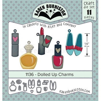 Karen Burniston DOLLED UP CHARMS Die Set 1136