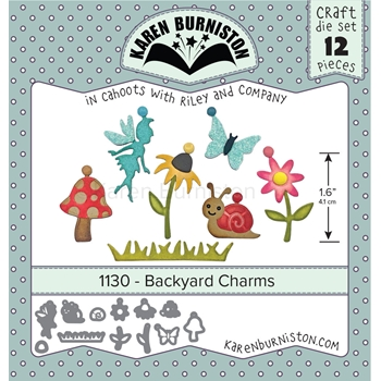 Karen Burniston BACKYARD CHARMS Die Set 1130