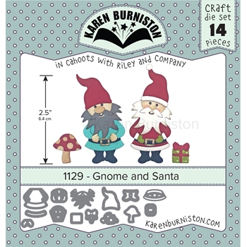 Karen Burniston GNOME AND SANTA Dies Set 1129