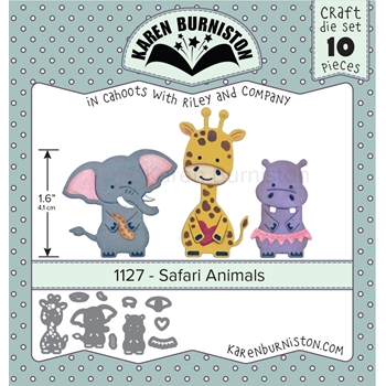 Karen Burniston SAFARI ANIMALS Die Set 1127