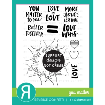 Reverse Confetti YOU MATTER Clear Stamps