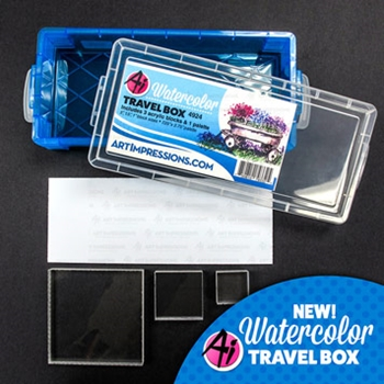 Art Impressions BLUE Watercolor Travel Box 34365
