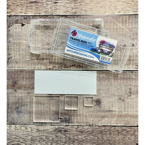 Art Impressions CLEAR Watercolor Travel Box 40309 Preview Image