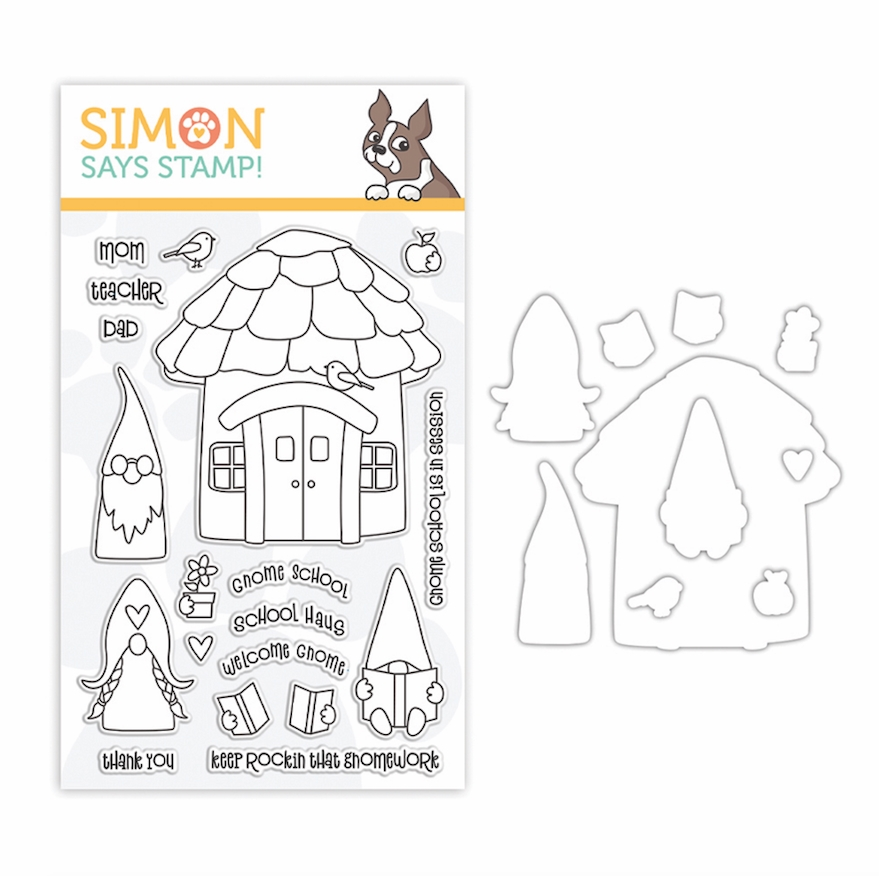 Simon Says Stamps and Dies GNOME SCHOOL set388gs Let's Connect zoom image