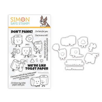 Simon Says Stamps and Dies WE'RE LIKE TOILET PAPER set389tp Let's Connect