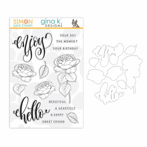Gina K Exclusive Simon Says Stamps and Dies SUMMER ROSES set340sr Let's Connect Preview Image