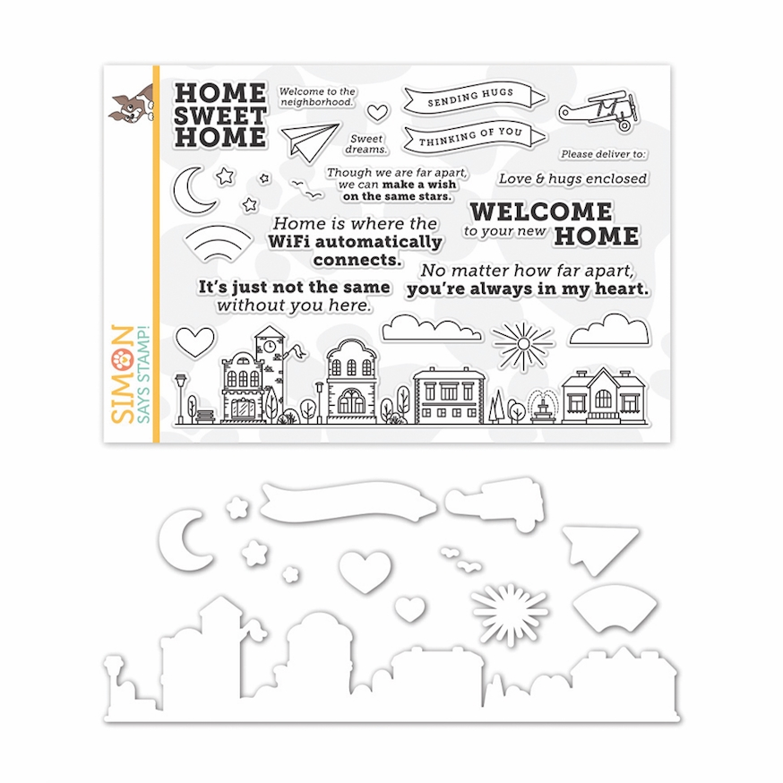 Simon Says Stamps and Dies HOME SWEET HOME set341hsh Let's Connect zoom image