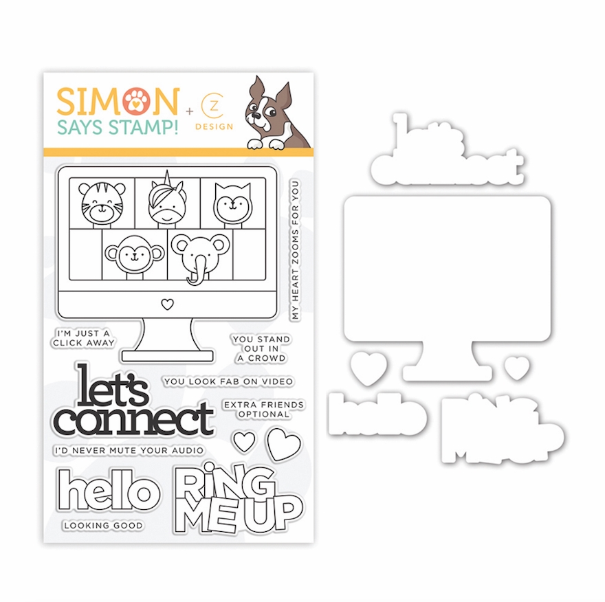 CZ Design Stamps and Dies LET'S CONNECT set343lc Let's Connect zoom image
