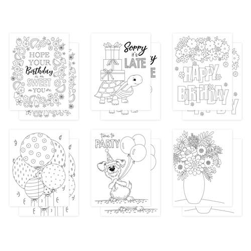 Simon Says Stamp Suzy's BIRTHDAY Watercolor Prints szbdy20wc Let's Connect Preview Image