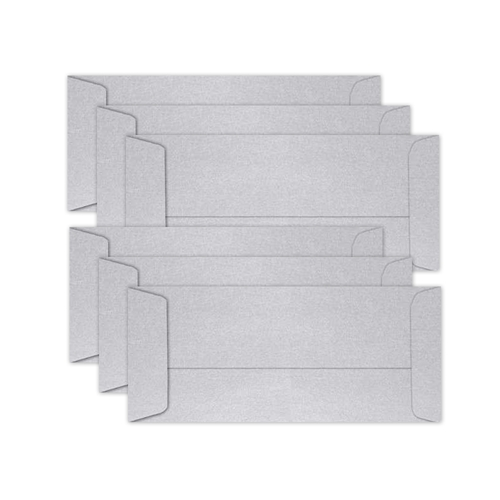 Simon Says Stamp Envelopes SLIMLINE METALLIC SILVER Open End sss67 Let's Connect Preview Image