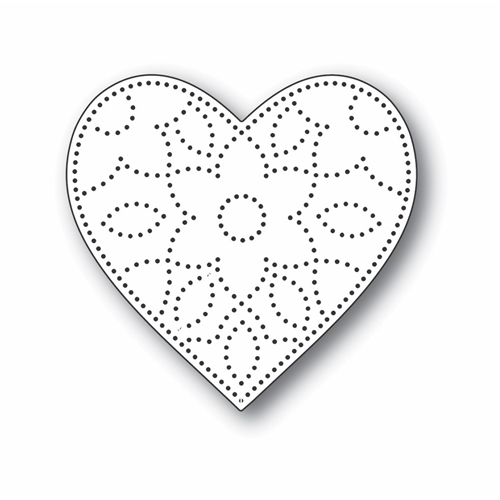 Simon Says Stamp DETAIL FLORAL HEART Wafer Die s703 Let's Connect Preview Image
