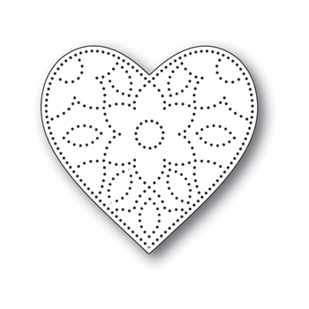 Simon Says Stamp DETAIL FLORAL HEART Wafer Die s703 Let's Connect