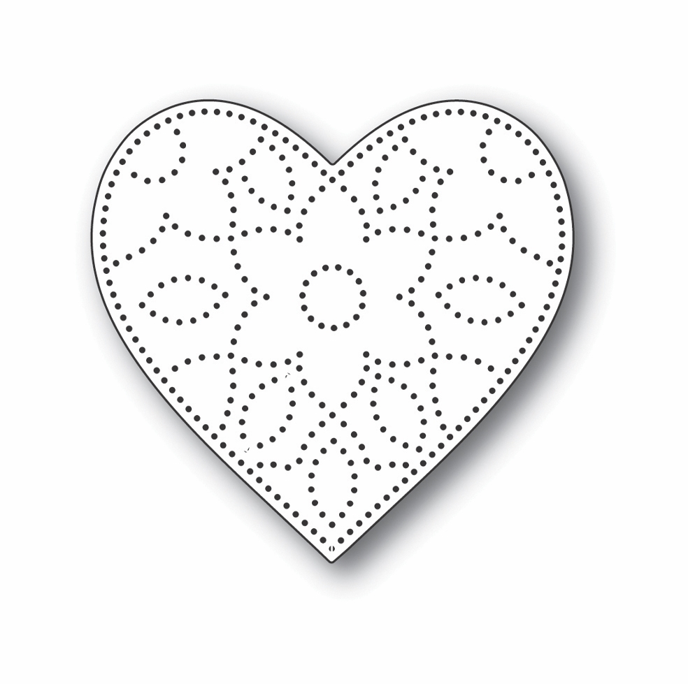 Simon Says Stamp DETAIL FLORAL HEART Wafer Die s703 Let's Connect zoom image