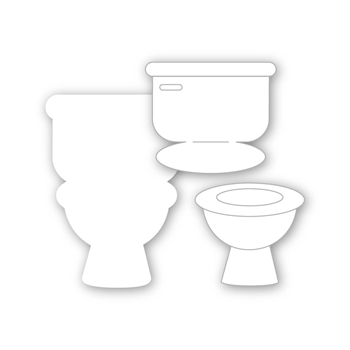 Simon Says Stamp INTERACTIVE TOILET Wafer Dies sssd112181 Let's Connect