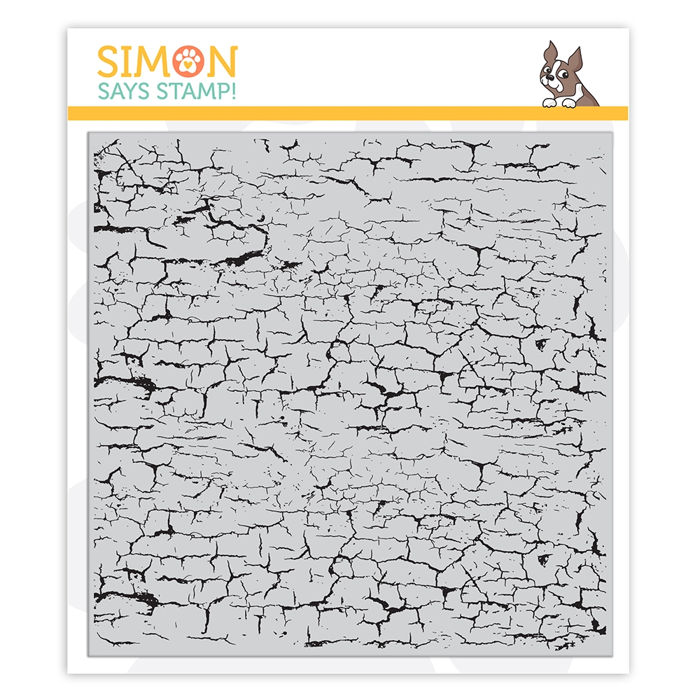 Simon Says Cling Stamp CRACKLE BACKGROUND sss102157 Let's Connect zoom image
