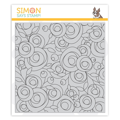 Simon Says Cling Stamp SPRING FLOWERS BACKGROUND sss102108 Let's Connect Preview Image
