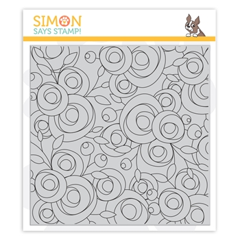 Simon Says Cling Stamp SPRING FLOWERS BACKGROUND sss102108 Let's Connect
