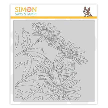 Simon Says Cling Stamp DRAWN DAISIES sss102125 Let's Connect
