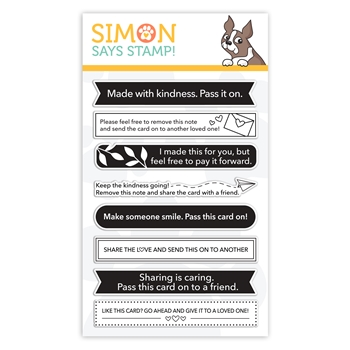 Simon Says Clear Stamps CARD SHARING sss302192 Let's Connect