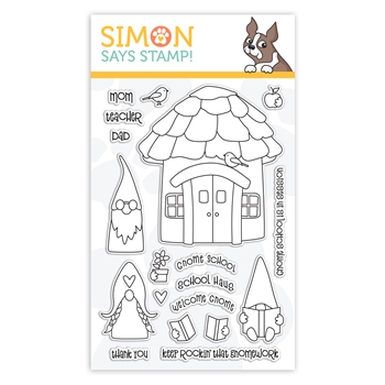 Simon Says Clear Stamps GNOME SCHOOL sss302153c Let's Connect