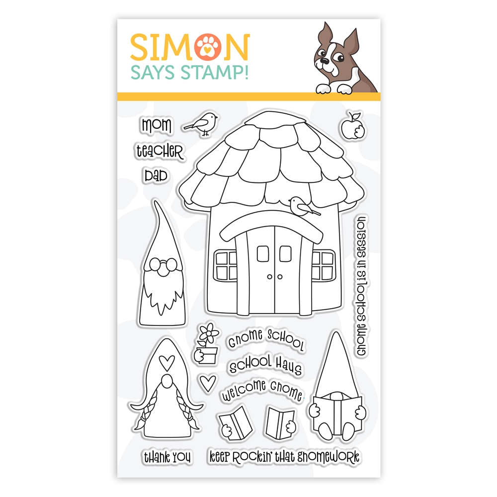 Simon Says Clear Stamps GNOME SCHOOL sss302153 Let's Connect zoom image