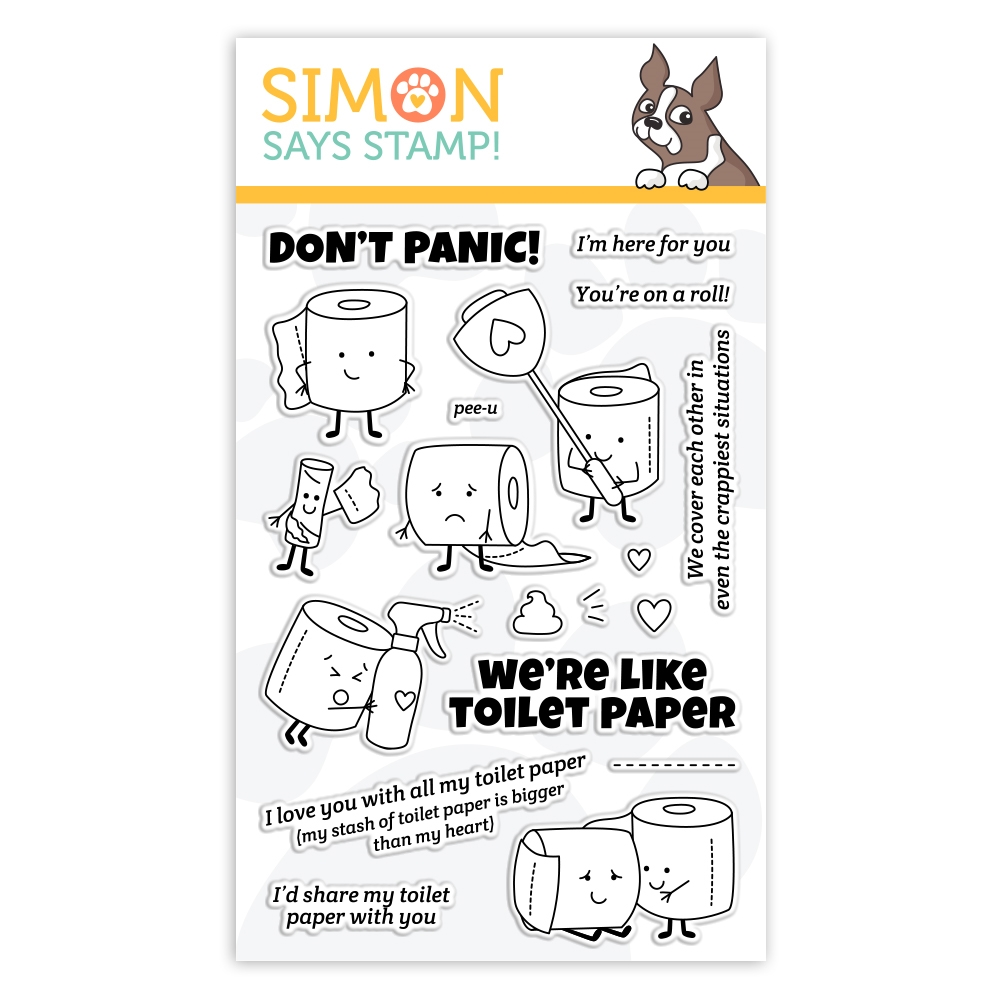 Simon Says Clear Stamps WE'RE LIKE TOILET PAPER sss102166 Let's Connect zoom image