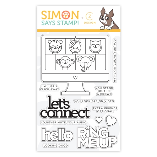 CZ Design Clear Stamps LET'S CONNECT cz359 Let's Connect Preview Image