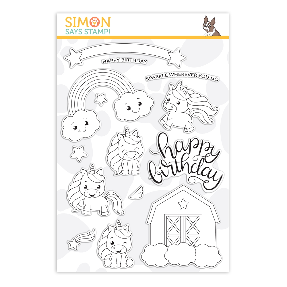 Simon Says Clear Stamps UNICORN LOVE sss202143 Let's Connect * zoom image