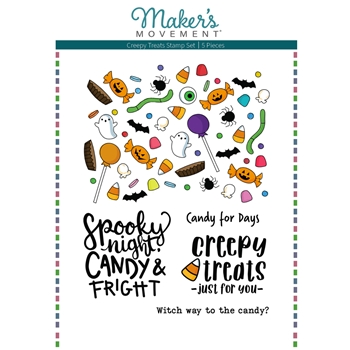 Maker's Movement CREEPY TREATS Clear Stamp Set mos228