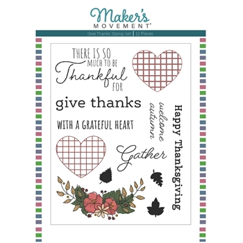 Maker's Movement GIVE THANKS Clear Stamp Set mos229
