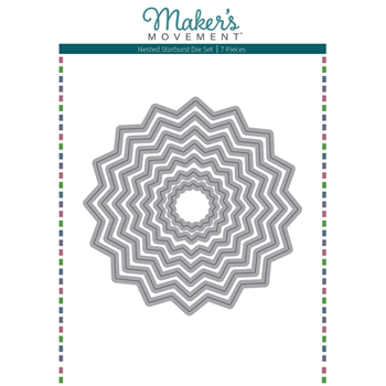 Maker's Movement NESTED STARBURST Die Set mod295