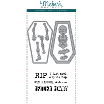 Maker's Movement SPOOKY SCARY Stamp And Die Set msd226