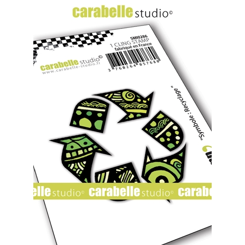 Carabelle Studio SYMBOL RECYCLING Cling Stamp smi0286* Preview Image