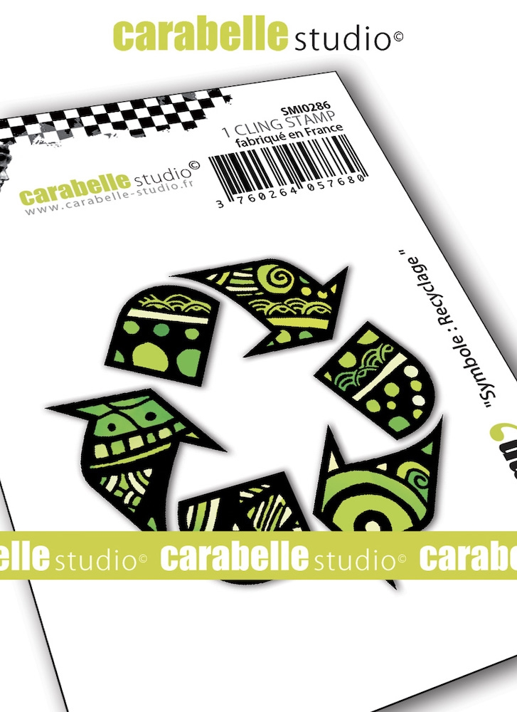 Carabelle Studio SYMBOL RECYCLING Cling Stamp smi0286* zoom image