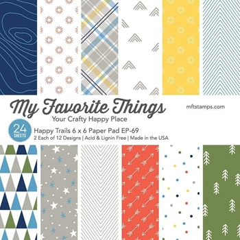 My Favorite Things HAPPY TRAILS 6x6 Inch Paper Pad 6075