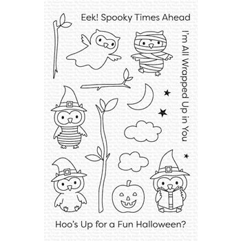 My Favorite Things HALLOWEEN HOO Clear Stamps cs497